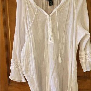 Tops - Lane Bryant white cotton tunic